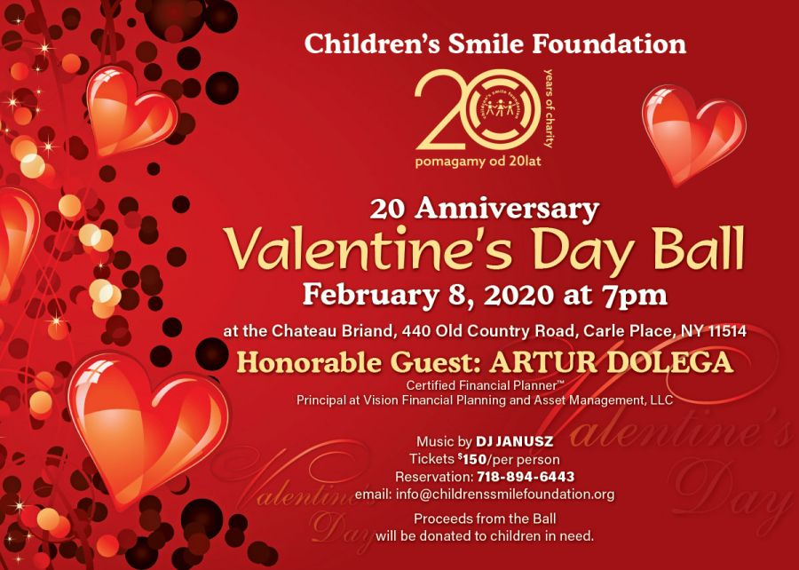 Save the Date - Valentine's Day Ball with Children's Smile Foundation