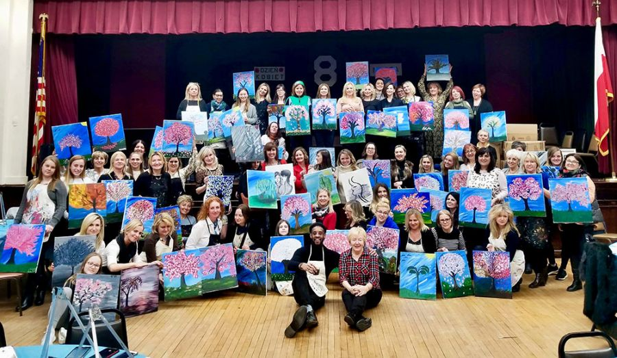 ODWOŁANY - Girls' Paint Night with Smile